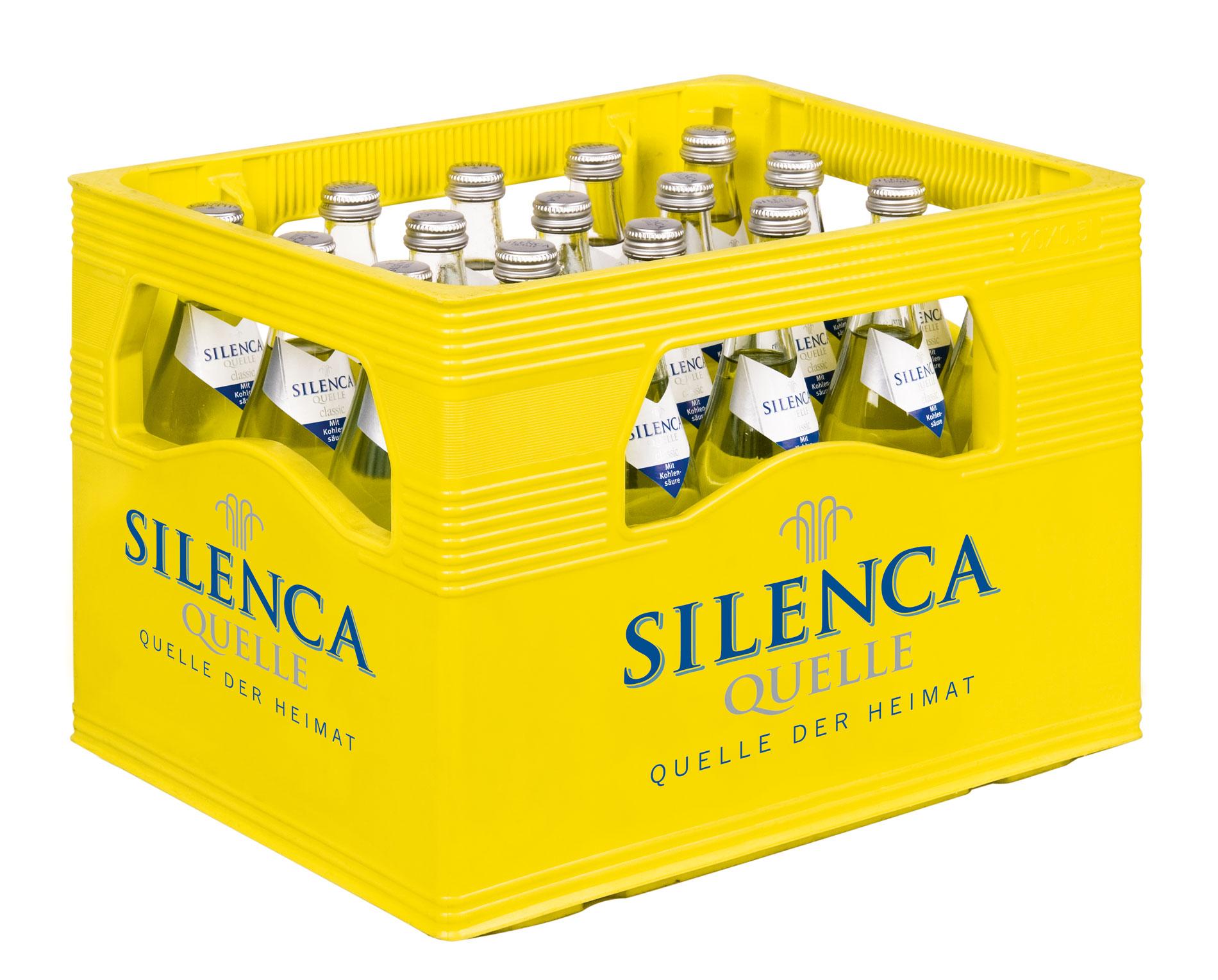 SILENCA Kasten 20 x 0,5 Liter für Glas
